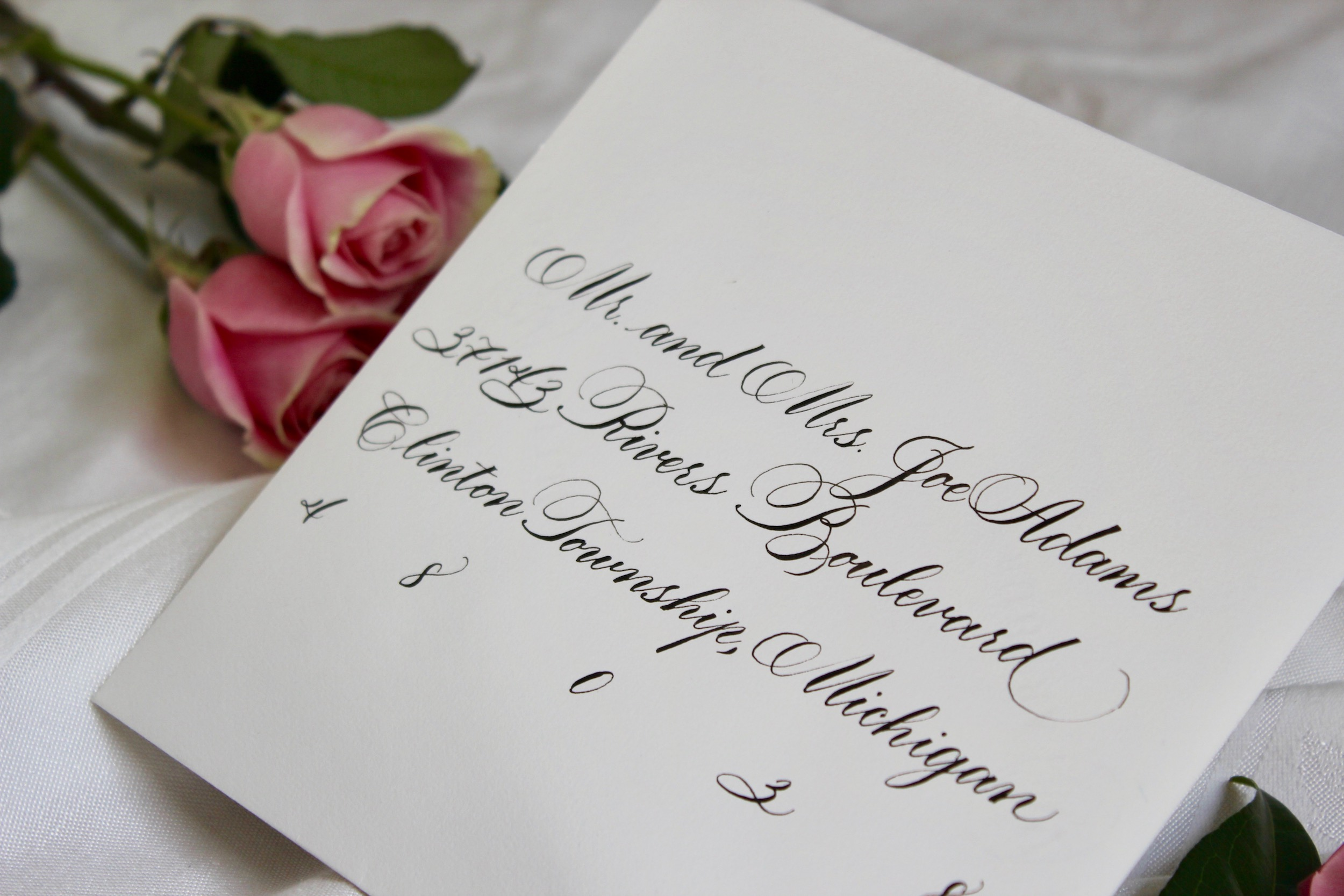 Gallery leah e moss traditional calligraphy envelope stopboris Images