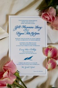 Blue Floral Invitation