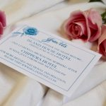 Blue Floral Invitation Extra Events