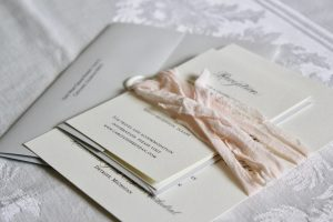 Grey and Cream Invitation with Ribbon