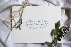 Modern Calligraphy Wedding Vows