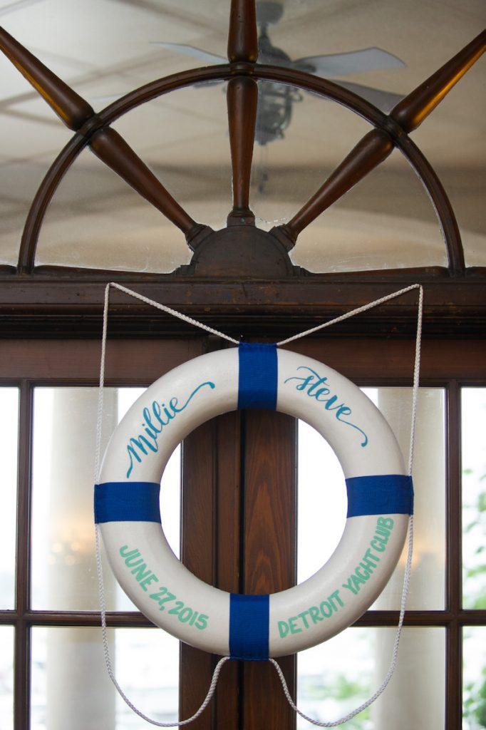 Leah E Moss - nautical wedding sign