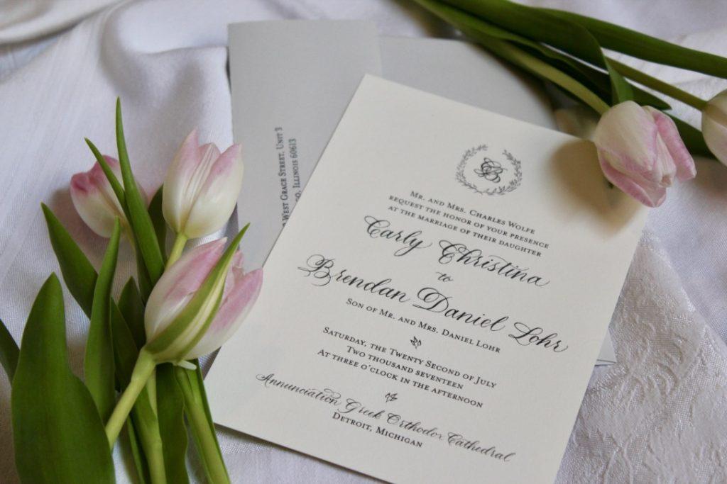 C&B Custom Wedding Invitation