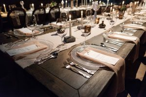 Leah E Moss - wedding with candlelight and menus