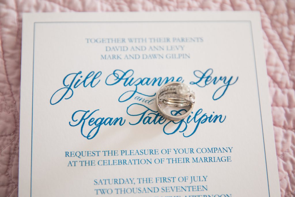 Leah E Moss - wedding invitation with rings