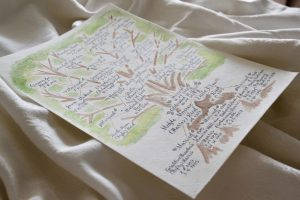 hand painted family tree