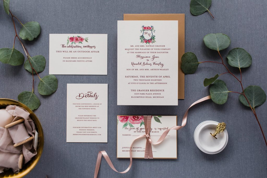 Custom Invitations - flatlay image - Leah E Moss