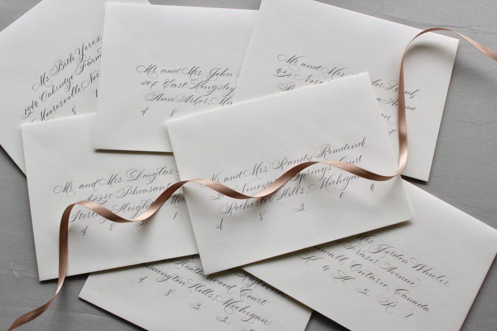 Envelope Calligraphy - Leah E Moss