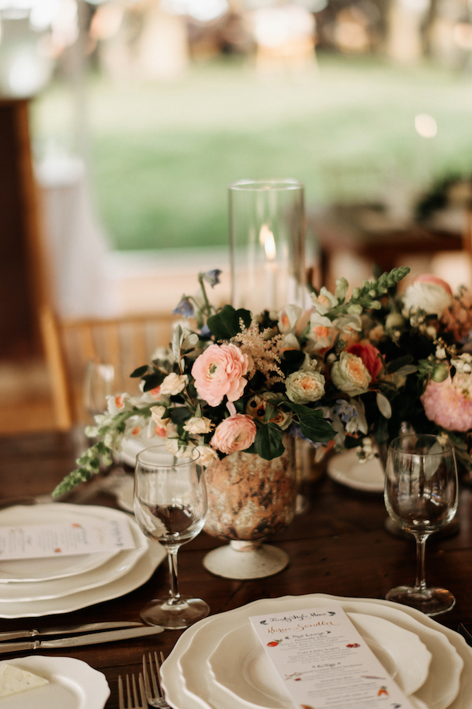 Farmhouse Chic Wedding - blush floral - Leah E Moss