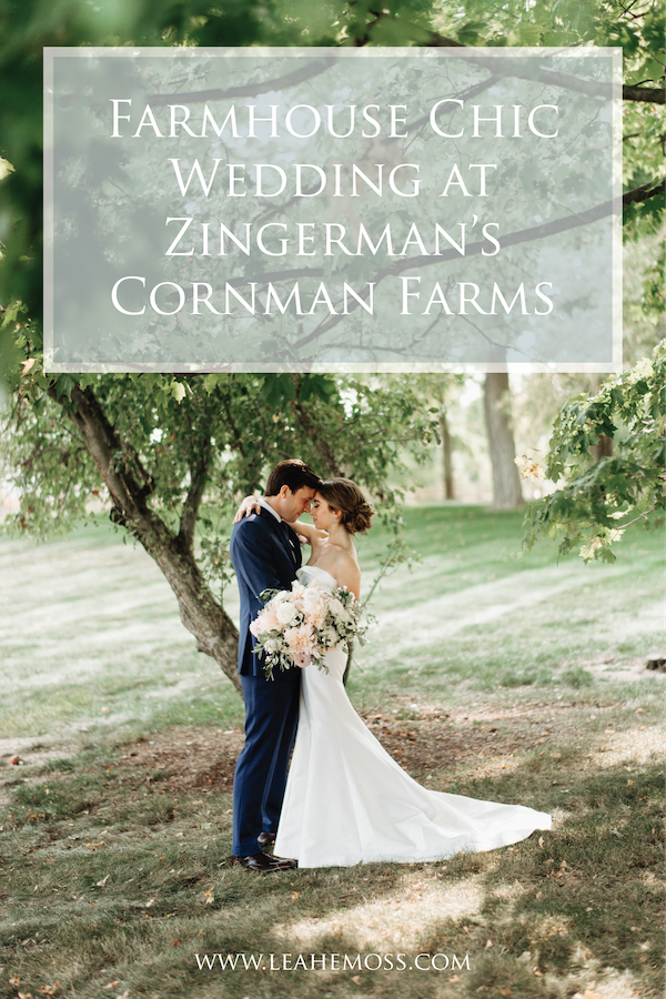 Farmhouse Chic Wedding at Zingerman's Cornman Farms - Leah E. Moss Designs #annarborwedding #michiganwedding #farmhousechic
