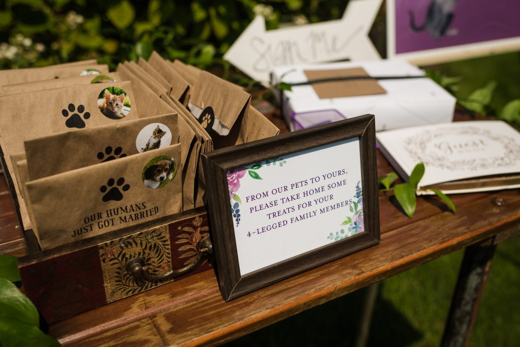 Wedding favor signage - Leah E. Moss Designs