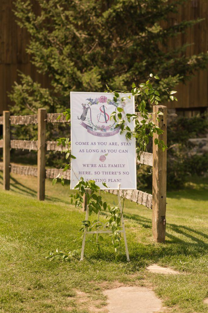 Wedding open seating sign - Leah E. Moss Designs