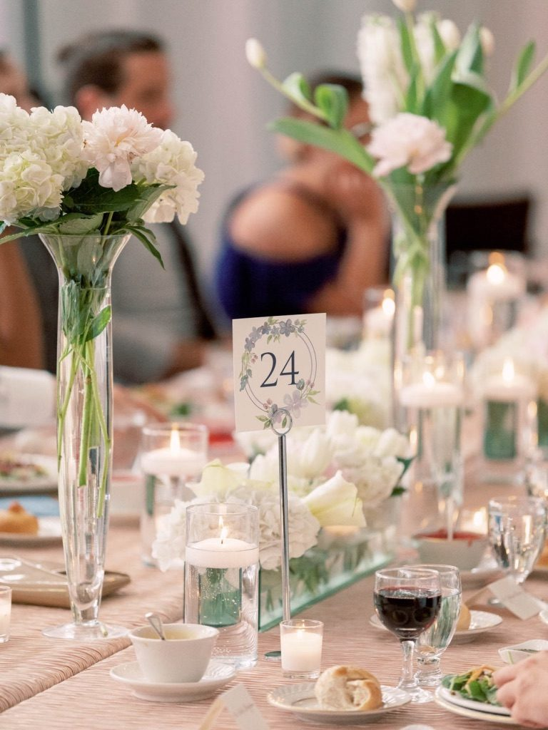Table number for wedding - Leah E. Moss Designs