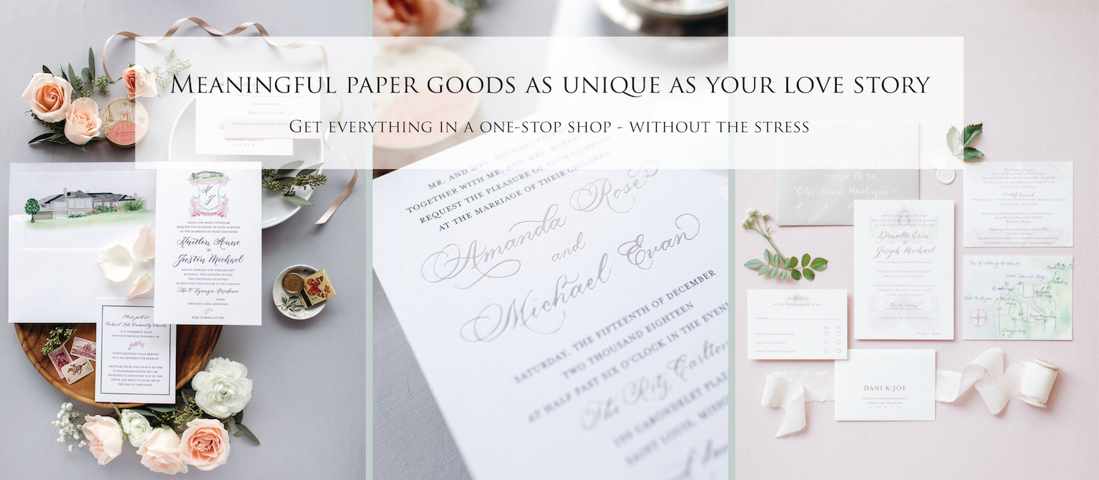 meaningful paper goods as unique as your love story - Leah E. Moss Designs