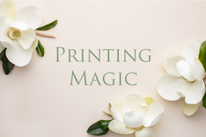 Leah E. Moss Designs - Printing Magic