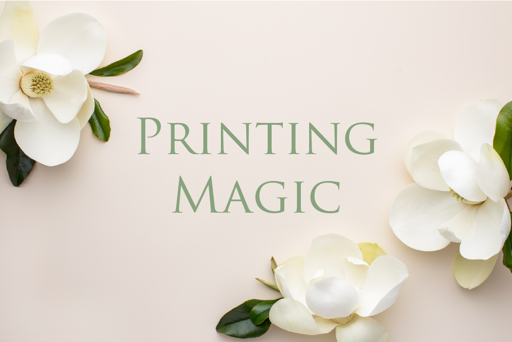 Leah E. Moss Designs - Printing Magic - wedding invitations process