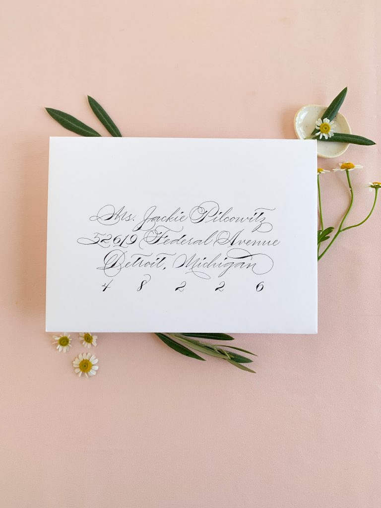 Traditional Spencerian - Calligraphy styles I offer - Leah E. Moss Designs