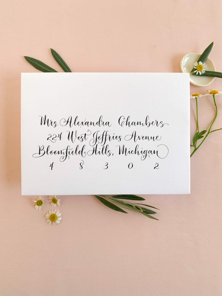 Fun calligraphy, modern calligraphy - Calligraphy styles I offer - Leah E. Moss Designs