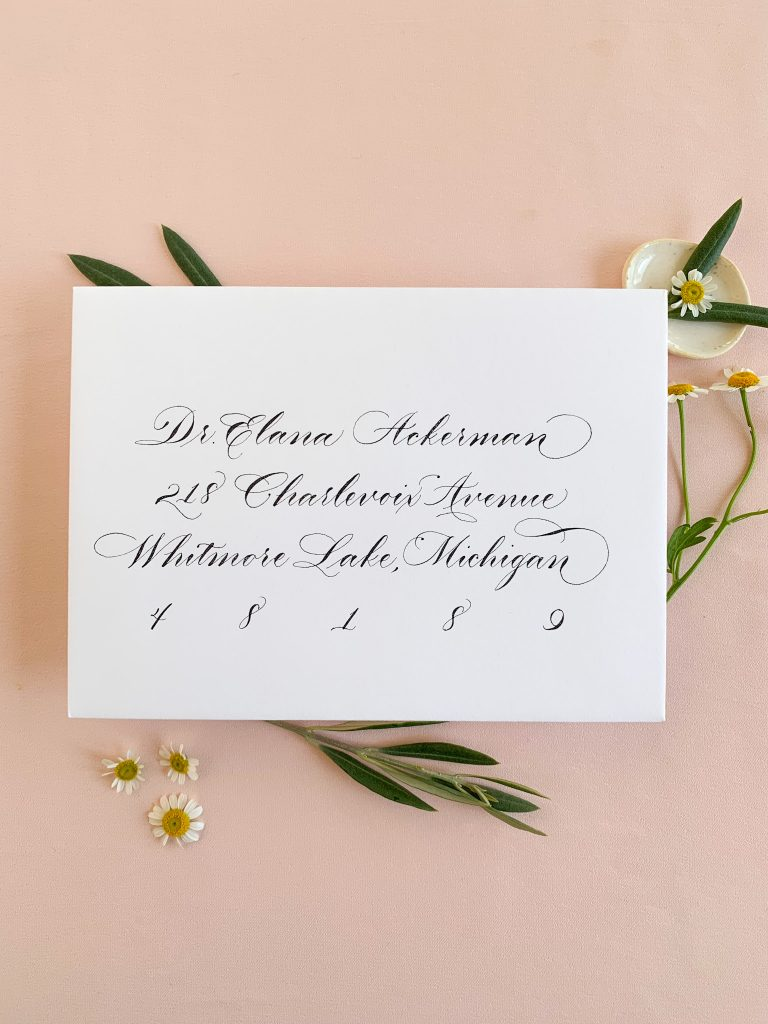 Classic calligraphy, Copperplate - Calligraphy styles I offer - Leah E. Moss Designs