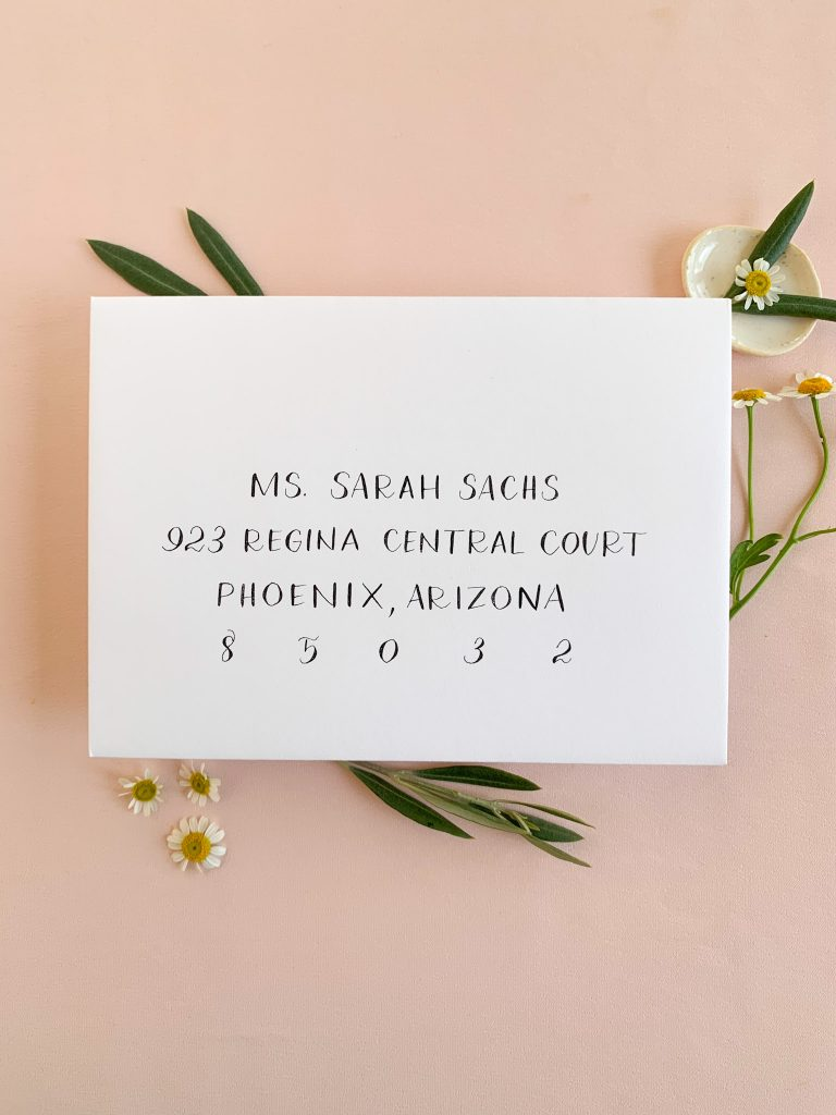 Simple writing - Calligraphy styles I offer - Leah E. Moss Designs