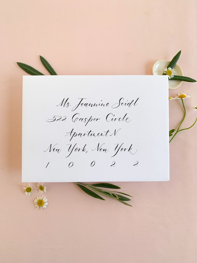 Modern calligraphy style - Calligraphy styles I offer - Leah E. Moss Designs