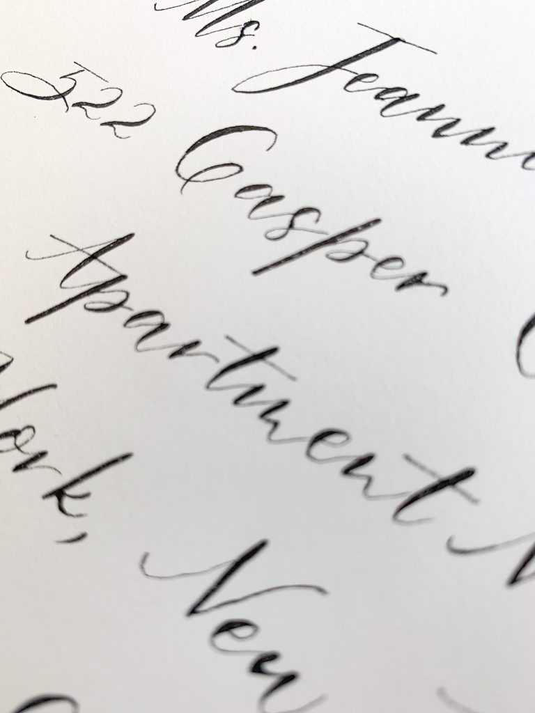 Casual calligraphy, modern printing - Calligraphy styles I offer - Leah E. Moss Designs