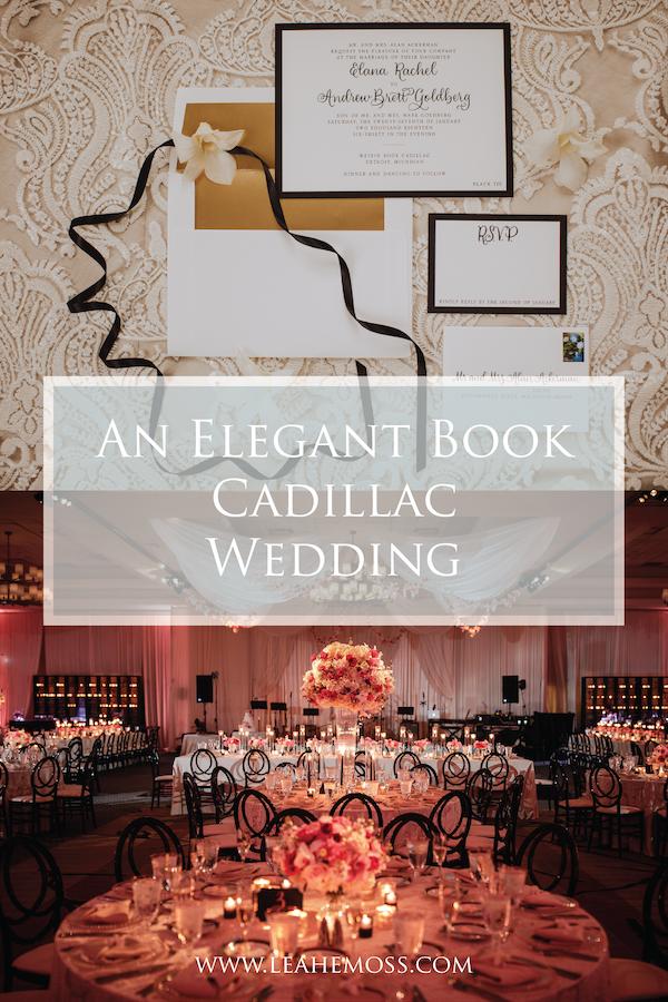 Elana and Andy: An Elegant Book Cadillac Wedding - Leah E. Moss Designs #detroitwedding #michiganwedding #elegantwedding