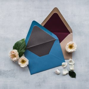 Leah E Moss Designs - the core values of my business - envelopes with liners