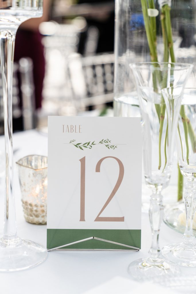 Table number - Greenery-filled Planterra wedding - Leah E. Moss Designs