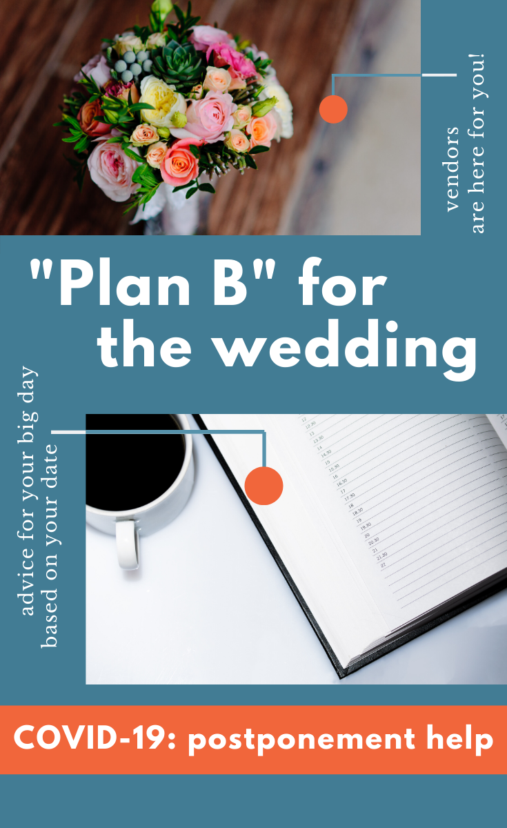 Wedding affected by the coronavirus - Plan B for the wedding - Leah E. Moss Designs