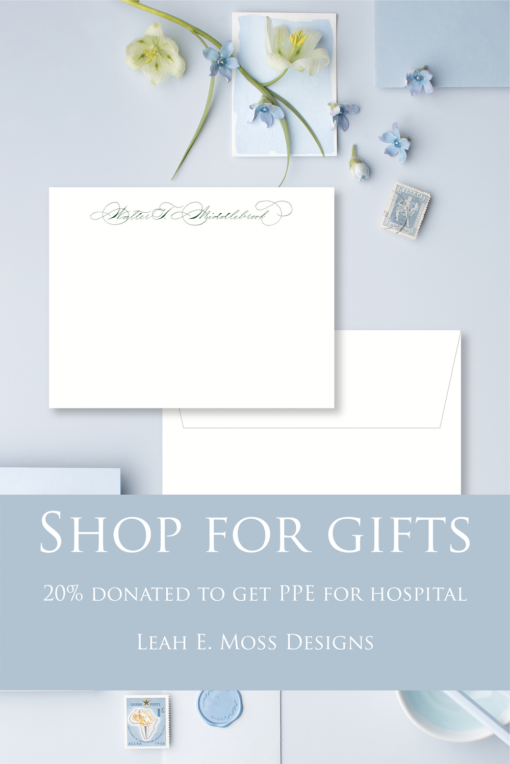 Shop for gifts to raise someone's spirits and help get much needed PPE for Detroit hospital - Leah E. Moss Designs