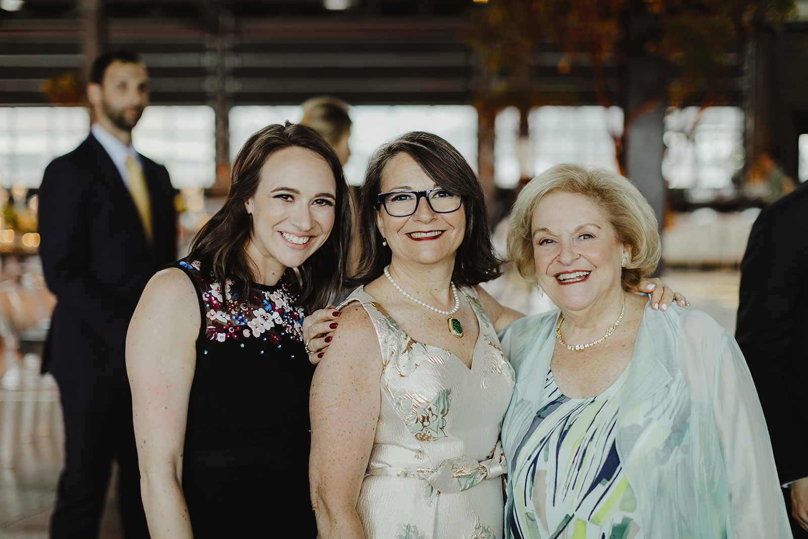 Daughter, mom, grandma - three generations of women, photo by Jill DeVries Photography - How mom can help with wedding planning - Leah E. Moss Designs