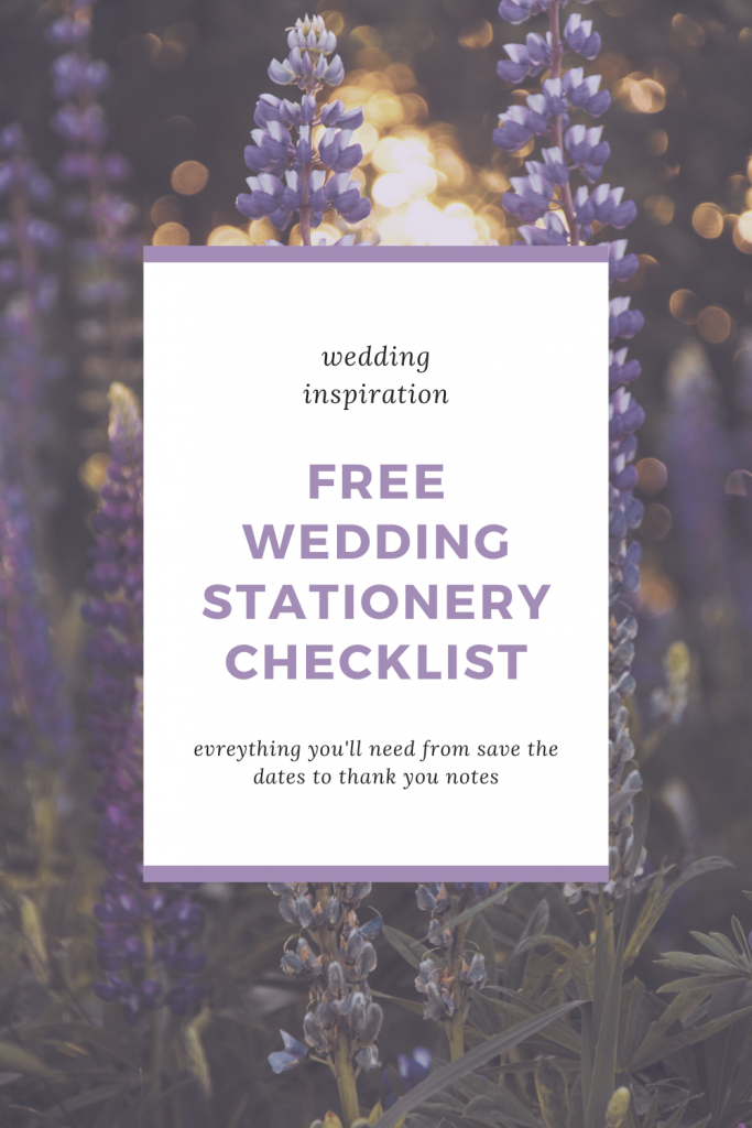 Get a free download so you have everything you need from save the dates to thank you notes - Wedding stationery checklist - Leah E. Moss Designs