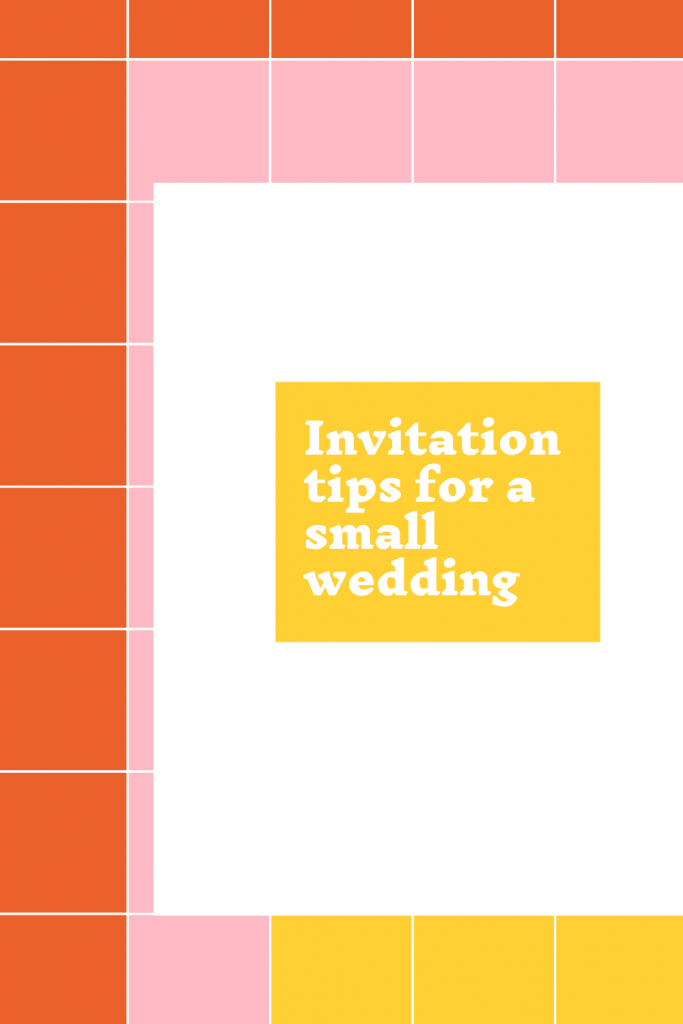 Invitation tips for a small wedding - Leah E. Moss Designs