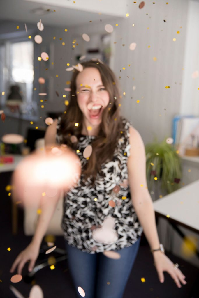 Confetti toss - Scheduling for entrepreneurs with Sachs Strategy - new sister brand to Leah E. Moss Designs