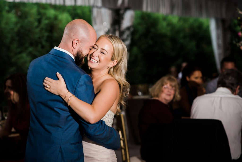 Bride and groom first dance - Royal Park Hotel wedding - Leah E. Moss Designs; photo by Brittany Emerson Photography