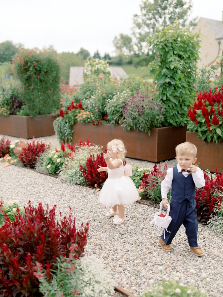 Flower girl and ring bearer - Intimate wedding at home in Ann Arbor, Michigan - Leah E. Moss Designs - Photo by Blaine Siesser