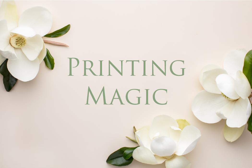 Leah E. Moss Designs - Printing Magic - wedding invitations process