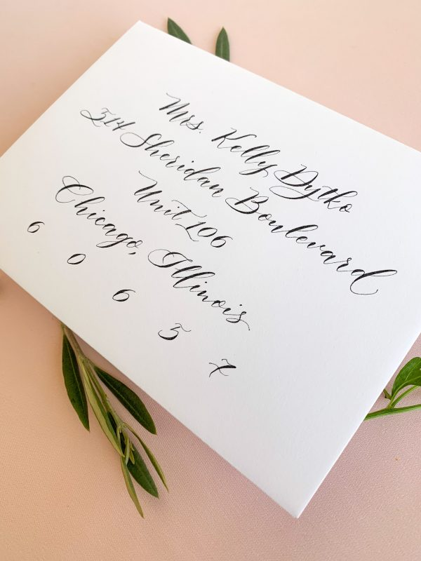 Modern calligraphy with bouncing style - Calligraphy styles I offer - Leah E. Moss Designs