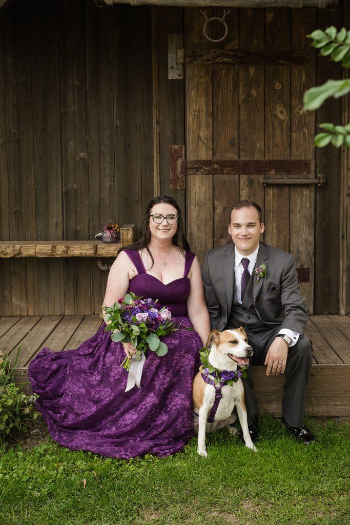 Pets wedding ideas from Sara and Alex's celebration - Leah E. Moss Designs #petsatweddings #michiganwedding #customweddinginvitations