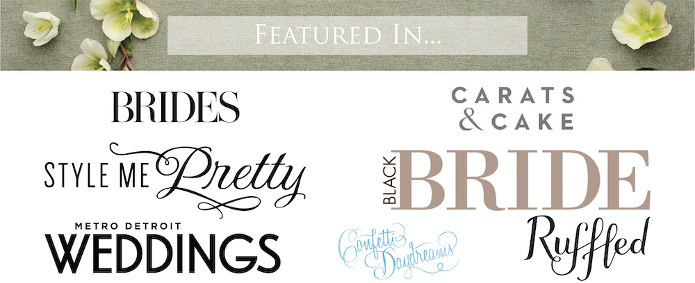 Features for Leah E. Moss Designs, Michigan calligrapher and invitations designer