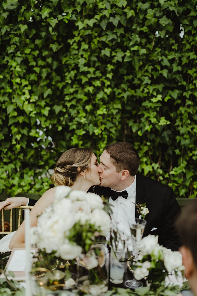 Elegant Planterra Conservatory wedding. Highlights from Leah E. Moss Designs. Photos by Jill DeVries Photography. #michiganwedding #greenhousewedding #elegantwedding