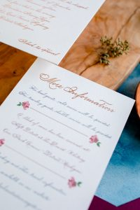 Added card for accommodations information - Leah E. Moss Designs