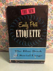 Emily Post book on etiquette - Wedding invitation wording etiquette - Leah E. Moss Designs