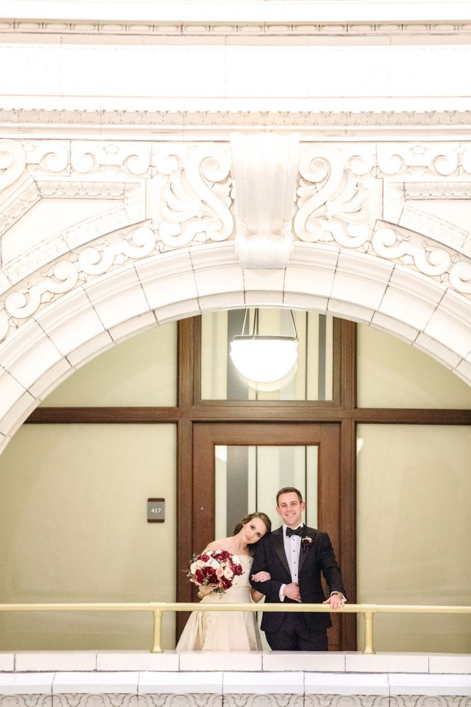 Wedding affected by the coronavirus - bride and groom portrait from first look by Casey Brodley - blog by Leah E. Moss Designs