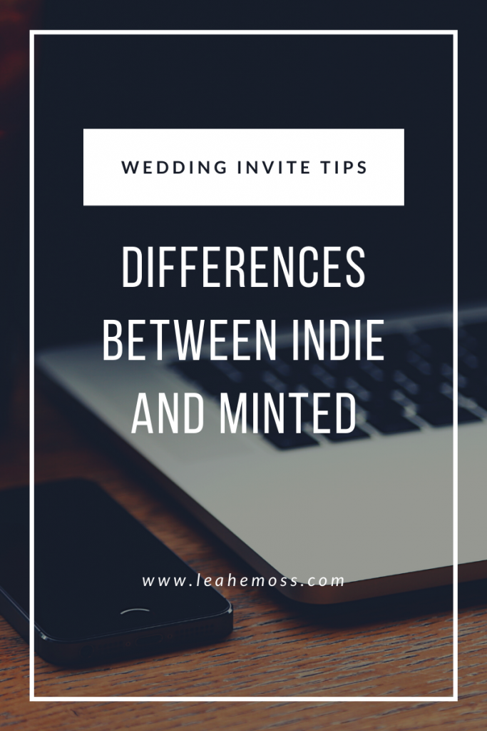 differences between shopping with me and Minted - Leah E. Moss Designs
