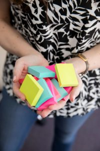 sticky notes - Scheduling for entrepreneurs with Sachs Strategy - new sister brand to Leah E. Moss Designs