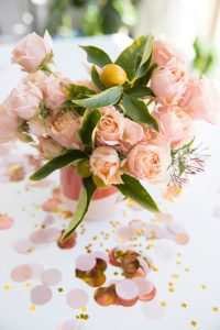 Confetti with flowers - Scheduling for entrepreneurs with Sachs Strategy - new sister brand to Leah E. Moss Designs