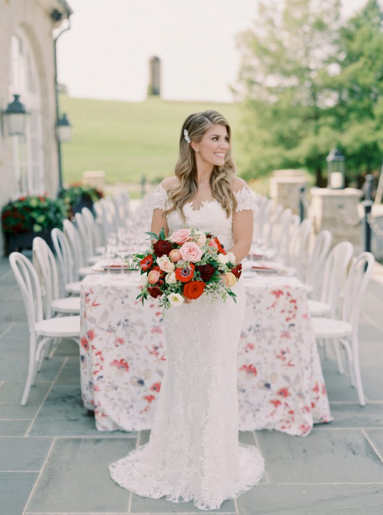 Elegant and timeless bridal portrait - Intimate wedding at home in Ann Arbor, Michigan - Leah E. Moss Designs - Photo by Blaine Siesser