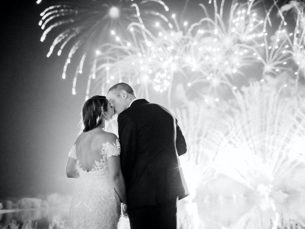 Fireworks to end the night - Intimate wedding at home in Ann Arbor, Michigan - Leah E. Moss Designs - Photo by Blaine Siesser